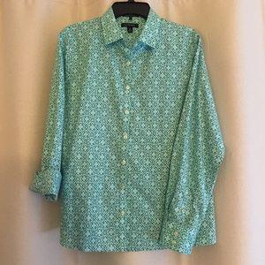 Lands' End Ladies Long Sleeve Shirt Size 14